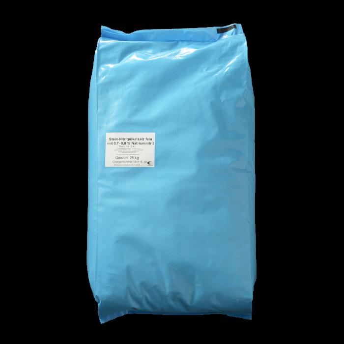 Stein-Nitrit-Pökelsalz mit 0,7-0,8 % Nitrit fein 0,4-1,4 mm im 25 kg Sack