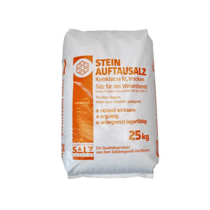 SWS AG Stein - Auftausalz im 25kg Sack