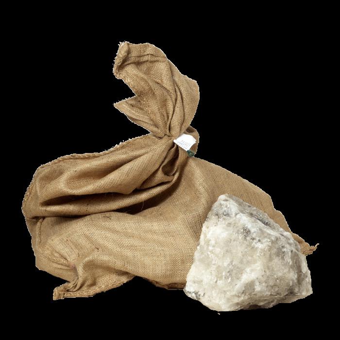 Natursalzlecksteine gebrochen im 25 kg Jutesack