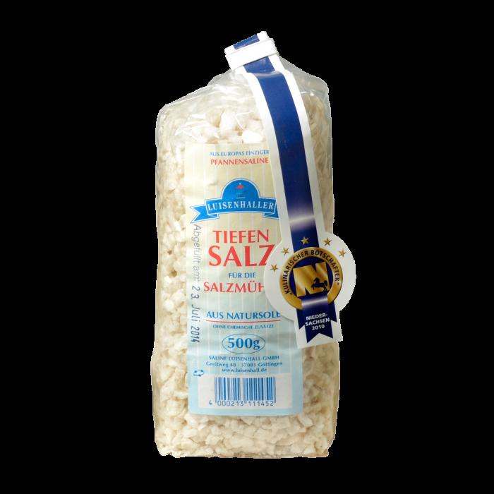 Luisenhaller Tiefensalz für die Salzmühle im 500 g Paket