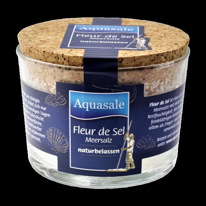 Aquasale® - Fleur de Sel im 125 Gramm Glas