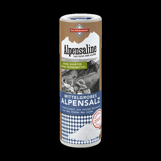 Alpensaline - Das Salz der Alpen - Mittelgrobes Alpensalz 380 g Dose