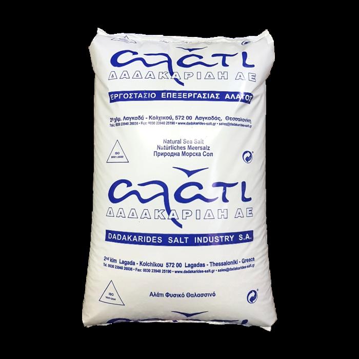 Poolsalz - fein 0-1 mm naturreines Meersalz 99,3% NaCl aus dem ionischen Meer im 25 kg Sack