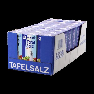 Safrisalz Tafelsalz Fein 24 x 500g Paket