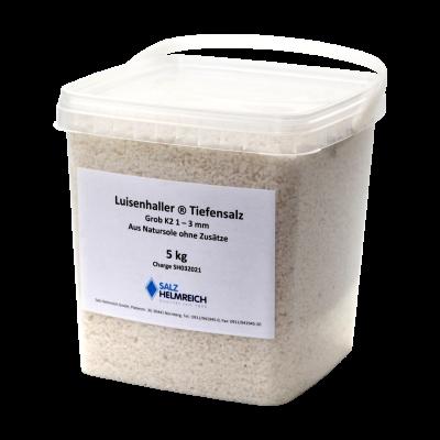 5kg Luisenhaller Tiefensalz (Pfannensalz) aus Natursole - Körnung 0,18-1,25 mm