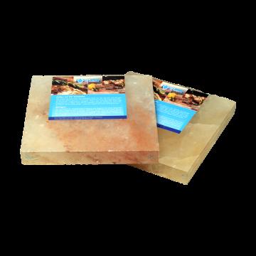 2 Salzsteine BBQ Salzplatten zum Grillen für mehr Grillfläche, mehrfach verwendbar