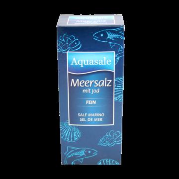 Aquasale® feines Meersalz mit Jod im 500 Gramm Paket