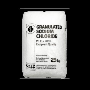 Natriumchlorid Sodiumchlorid Ph.Eur./USP Excipient Quality im 25 kg Sack