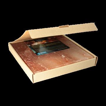 Salzstein im fertigen Geschenkkarton BBQ Salzplatte zum Grillen, mehrfach verwendbar